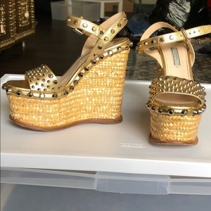Studded Prada Wedges